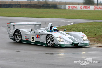 Mika Salo testing the Audi Sport UK