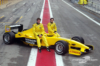 Ralph Firman and Giancarlo Fisichella with the Jordan EJ13