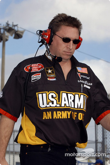 Crew chief Ryan Pemberton