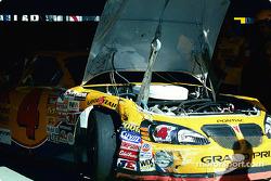 Damage on Mike Skinner's car