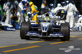 Ralf Schumacher out of the pits