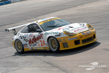 #24 Alex Job Racing Porsche 911 GT3 RS: Timo Bernhard, Jorg Bergmeister