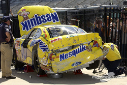Scott Riggs' damaged car