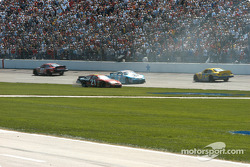 Ricky Rudd and Jimmy Spencer spin
