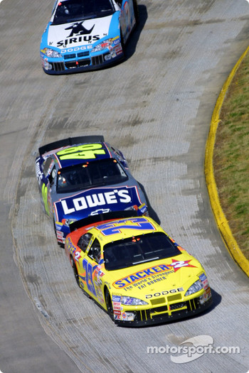 Kenny Wallace and Jimmie Johnson
