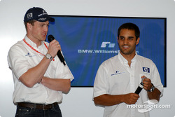 Ralf Schumacher and Juan Pablo Montoya at the NiQuitinCQ presentation