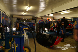 Inside the garage of Stone Brothers Racing