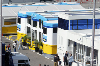 Renault F1 hospitality area in the paddock