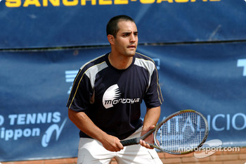 Charity tennis tournament at the Sanchez-Casal Academy in Barcelona: Juan Pablo Montoya