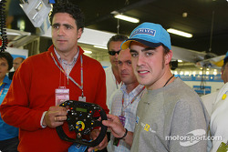 Fernando Alonso with champion cyclist Miguel Indurain