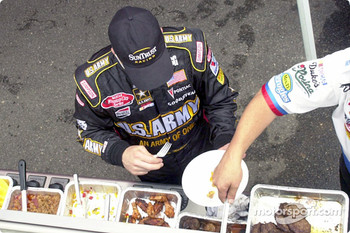 Jerry Nadeau gets some lunch