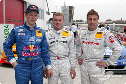 Mattias Ekström, Marcel Fassler and Bernd Schneider