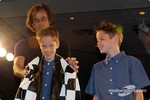 Arie Luyendyk and sons Luca and Alec