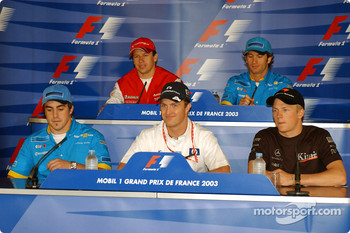Thursday FIA press conference: Fernando Alonso, Ralf Schumacher, Kimi Raikkonen, Olivier Panis and Jarno Trulli