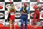 Champagne shower for Paul Tracy