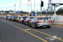 Part of the V8 field line up for the Saturday morning session