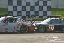 #79 J-3 Racing, Inc. Porsche 911 GT3 RS: Justin Jackson, David Murry, and #43 Orbit Racing Porsche 911 GT3 RS: Marc Lieb, Peter Baron
