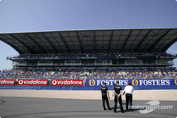 Lottery drawing of a Smart in front of the Mercedes grandstand