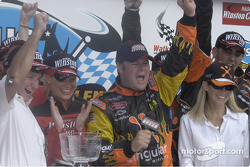 Robby Gordon on the Podium