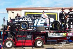 Post-race dyno check for race Winner Ryan Newman's car