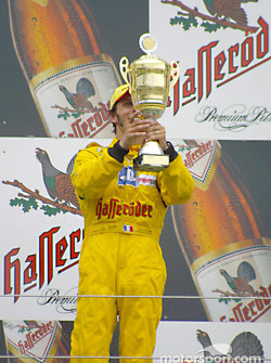 Podium: race winner Laurent Aiello