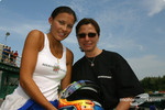 Rocketsports-Tagliani karting event: Alex Tagliani's wife Bronte and Rocketsports Racing Public Relations officer Nadia Petrossi