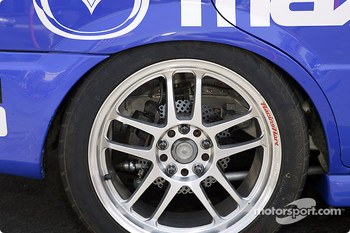 Brake detail on Jeff Altenburg's Mazda Protege