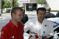 Jan Magnussen and Michael Galati share a laugh