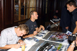 Autograph session in Palais Ferstel, Vienna: Marcel Fassler and Alexander Wurz