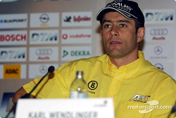 Press conference in Palais Ferstel, Vienna: Karl Wendlinger