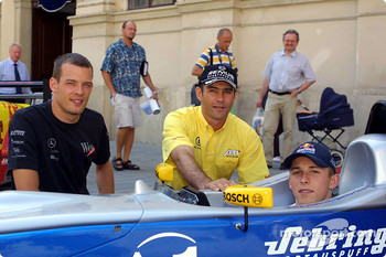 Media event in Palais Ferstel, Vienna: Alexander Wurz and Karl Wendlinger