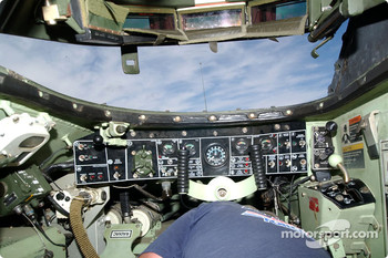 The cockpit of the Bradley Fighting Vehicle