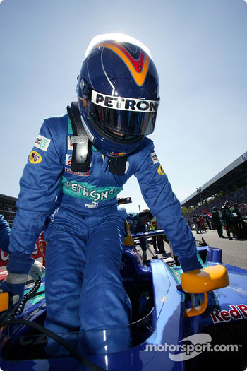 Heinz-Harald Frentzen on the starting grid