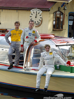 Press conference in Zandvoort: Jeroen Bleekemolen, Peter Terting and Christijan Albers