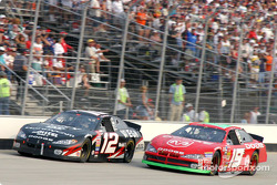 Jeremy Mayfield gives Ryan Newman serious contention for the lead