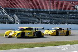 #9 Mears Motor Coach Ford Multimatic: Paul Mears Jr., Joe Varde, and #6 Gunnar Racing Porsche Gunnar GT1: Milt Minter, Chad McQueen, Gunnar Jeannette