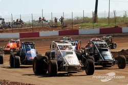 Brandon Lane and Ronnie Clark in row two