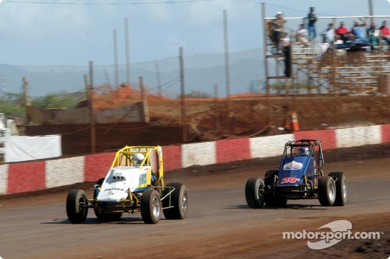Dean Freitas passes Rick Ziehl on lap 20