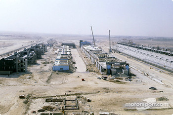The Bahrain International Circuit construction site