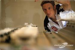 Jenson Button visits the Bahrain International Circuit construction site