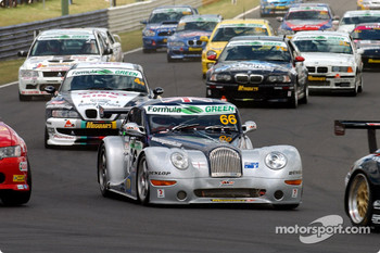 Start: #66 Adam Sharpe Motorsport Morgan Aero 8: Adam Sharpe, Neil Cunningham, Keith Ahlers, Tom Shrimpton