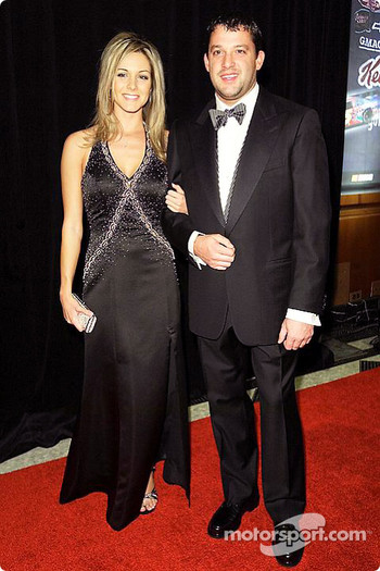Tony Stewart with his girlfriend