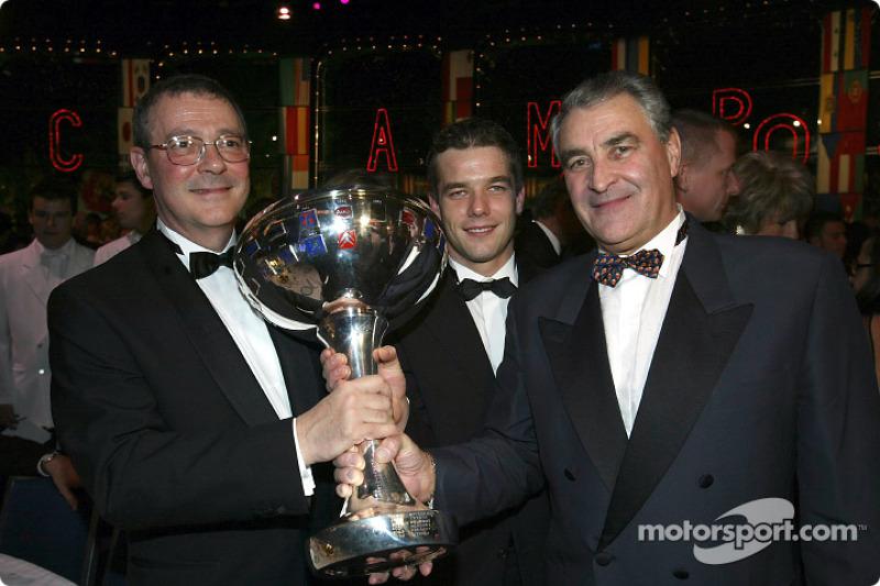 Claude Satinet, Sébastien Loeb and Guy Fréquelin