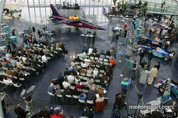 Media representatives at Red Bull's Hangar-7 at Salzburg Airport