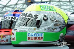 Giancarlo Fisichella's helmet
