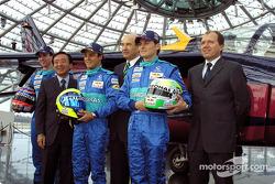 Neel Jani, Osamu Goto, Felipe Massa, Peter Sauber, Giancarlo Fisichella and Willi Rampf