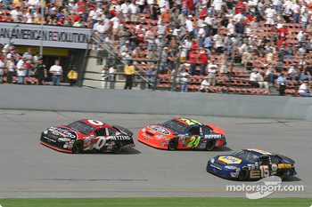 Ward Burton, Jeff Gordon and Michael Waltrip