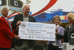 NASCAR-LPGA check presentation