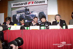 Press conference: Zsolt Baumgartner, Paul Stoddart and Gianmaria Bruni