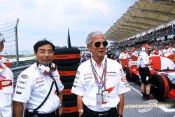 Keizo Takahashi with Dr Saito, EVP Toyota Motor Corporation